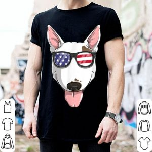 Bull Terrier Dog Patriotic USA 4th of July American shirt