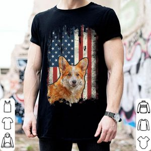 Cute Corgi American Flag Usa Patriotic Dog Lover shirt
