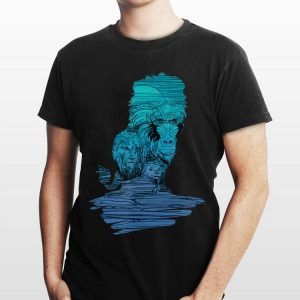 Disney Lion King Simba Rafiki Silhouette Live Action shirt