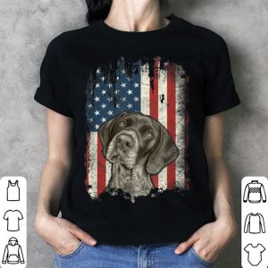 German Shorthaired Pointer American Flag Usa Gsp Dog shirt