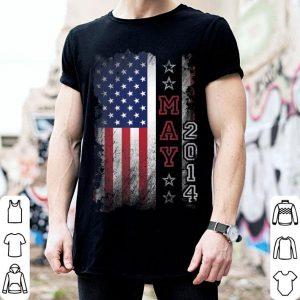 June 2014 American Flag 5th Birthday Vintage shirt