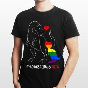 LGBT Mom Saurus Rex Lgb Mothers Rainbow shirt