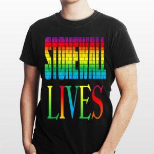 Lgbtq Gay Pride Stonewall Lives 50th Anniversary Brick Wall shirt