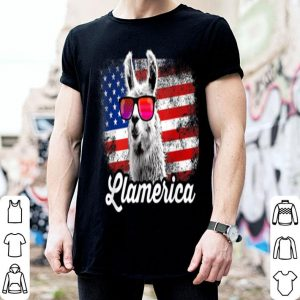 Llamerica American Llama Patriotic 4th Of July American Flag shirt