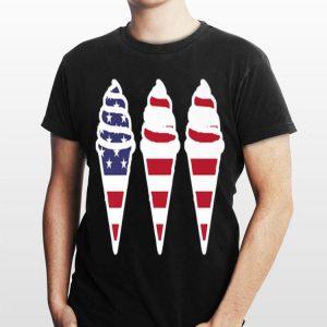 Patriotic Ice Cream Lover American Flag Summer shirt