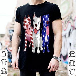 Pitbull Flag Patriotic American Flag Dog shirt