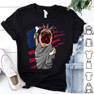 Pug American Flag The Fourth of July shirt