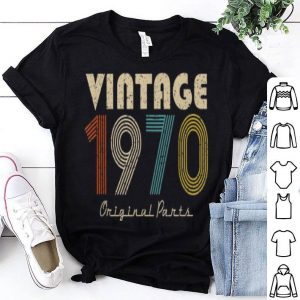 Retro Vintage 1970 Original Parts 49Th Birthday shirt