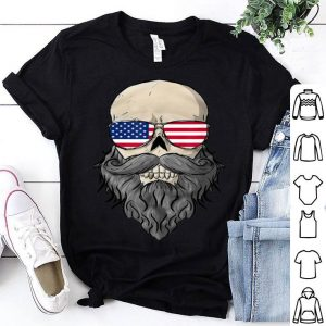 Skull Beard With Sunglasses For 4th Of July shirt
