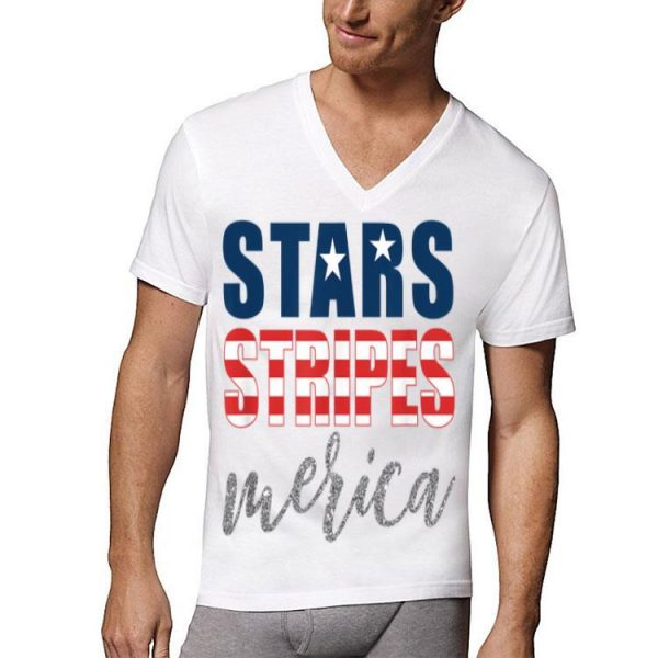 Stars Stripes Merica Patriotic 4th of July Flag Memorial Day shirt