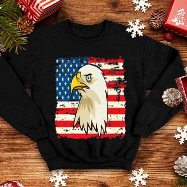 USA Flag Bald Eagle 4th Of July shirt