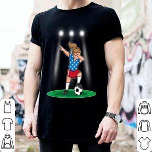 USA Womens Soccer Kit France 2019 Dabbing Girls Football Fan shirt