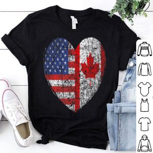 Usa Canada Heart Dual Citizenship shirt