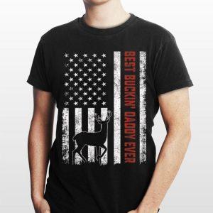 Vintage Best Buckindaddy Ever American Flag shirt