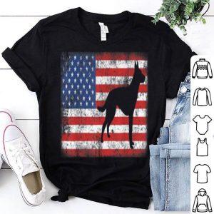 Vintage Retro American Flag Dutch Shepherd shirt