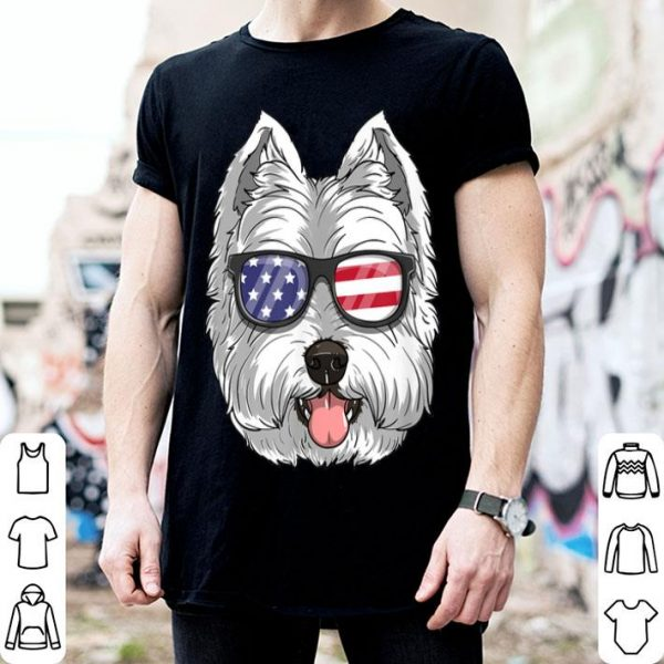 West Highland White Terrier Dog 4th Of July American Westie shirt