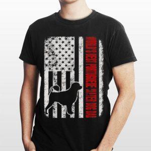 World Best Portuguese Water Dog Dad American Flag shirt