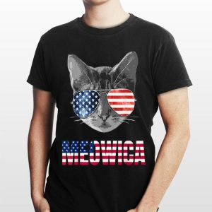 4Th Of July Patriotic Sunglass For Cat Lovers Meowica shirt