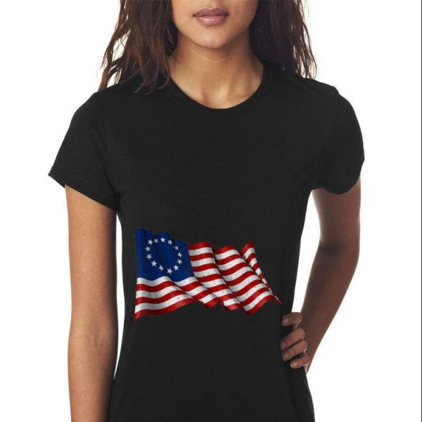 American Betsy Ross Flag Flying 1776 4th Of July Independence Day Sweater