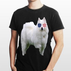 American Eskimo Wearing Sunglasses 4th Of July Dog shirt