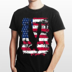 American Flag Cool Retro Vintage 4Th July Eagle shirt