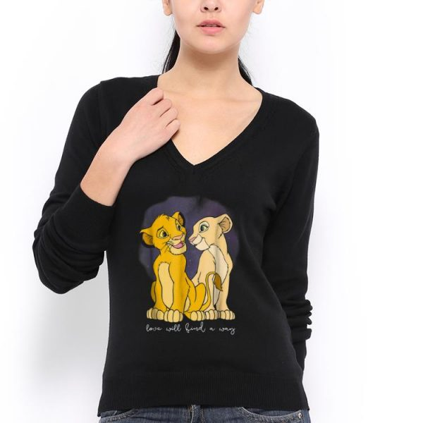 Awesome Disney Lion King Simba Nala Love Love Will Find A Way shirt