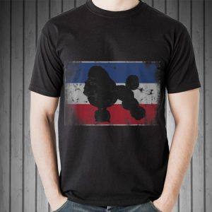 Awesome Poodle Breed Bastille Day Distressed French Flag shirt