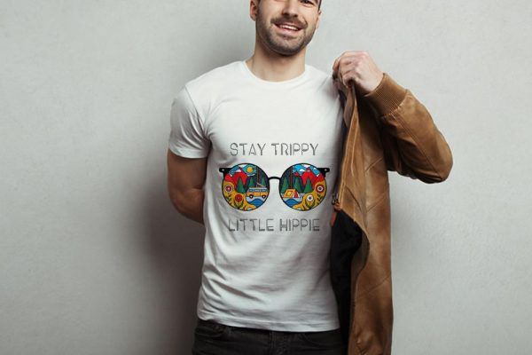 Awesome Stay Trippy Little Hippie Glasses Camping shirt