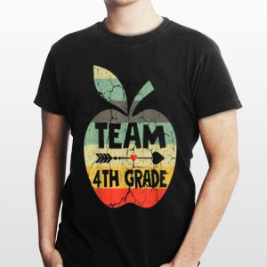Back To School 4th Grade Retro Style Apple shirt