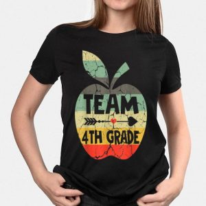 Back To School 4th Grade Retro Style Apple shirt