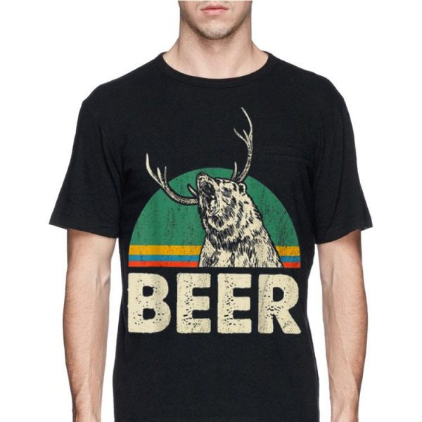 Beer Bear Mix Deer And Beer Vintage shirt