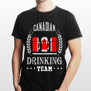 Beer Canadian Drinking Team Casual Canada Flag shirt