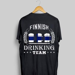 Beer Finnish Drinking Team Casual Finland Flag shirt
