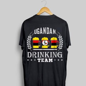 Beer Ugandan Drinking Team Casual Uganda Flag shirt