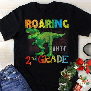 Best price Roaring Into 2nd Grade T-Rex Dinosaur Back to School shirt