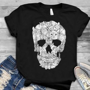Cat Skull Skeleton Halloween Costume Idea Youth tee