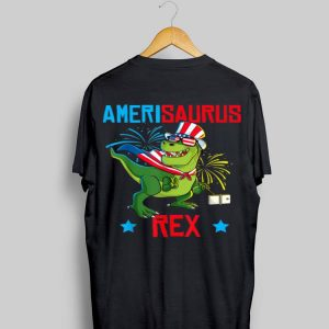 Dinosaur 4Th Of July Kids Boys Amerisaurus T Rex shirt