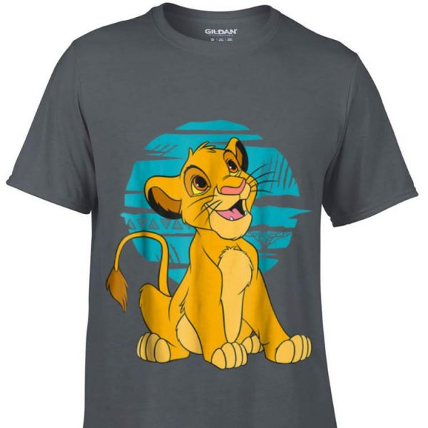 Disney The Lion King Young Simba Happy Blue Retro sweater