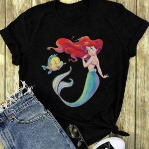 Disney The Little Mermaid Ariel and Flounder long sleeve