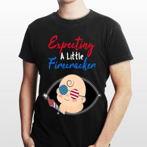 Expecting a Little Firecracker Pregnancy 4th of July Premium shirt