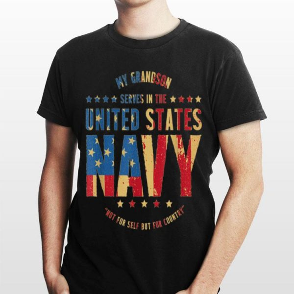 Grandma & Grandpa Us Navy My Grandson Serves shirt