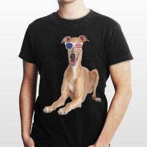 Greyhound Wearing Sunglasses 4Th Of July Dog shirt