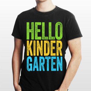 Hello Kindergarten Back To School shirt