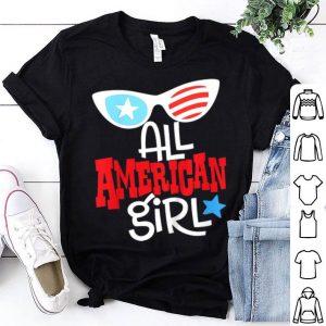 Kids All American Girl 4Th Of July America Flag Girls shirt