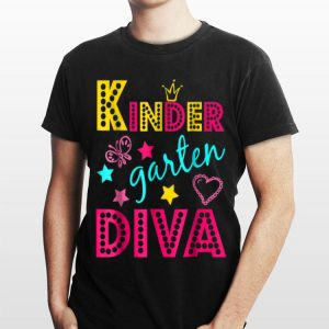 Kindergarten Diva Back to School Outfit for Girls shirt