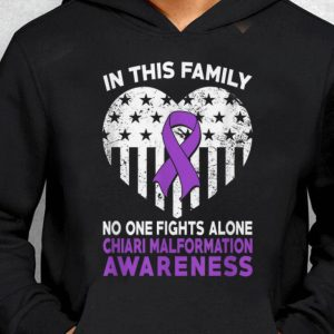 Nice Trend In This Family No One Fight Alone Chiari Malformation Heart American Flag shirt