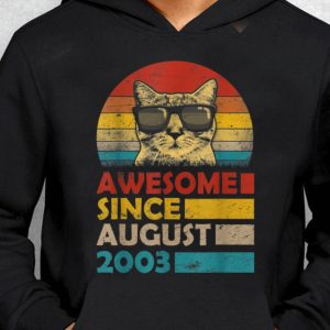Nice Trend Vintage Cat Sunglass Awesome Since August 2013 shirt