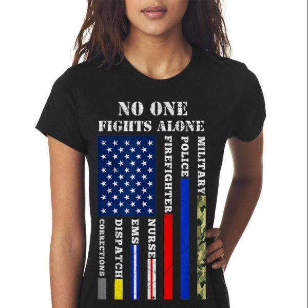 No One Fight Alone Usa Flag For 4th Of July All Job American Sweater