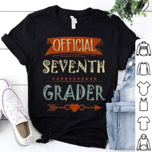Official 7th Grader 7th Grade Back To School shirt