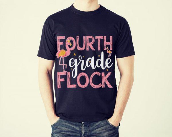 Original Fourth Grade Flack Back To Shool Flamingo shirt